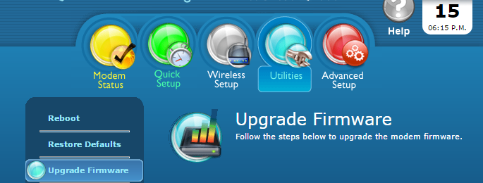 Upgrade Firmware