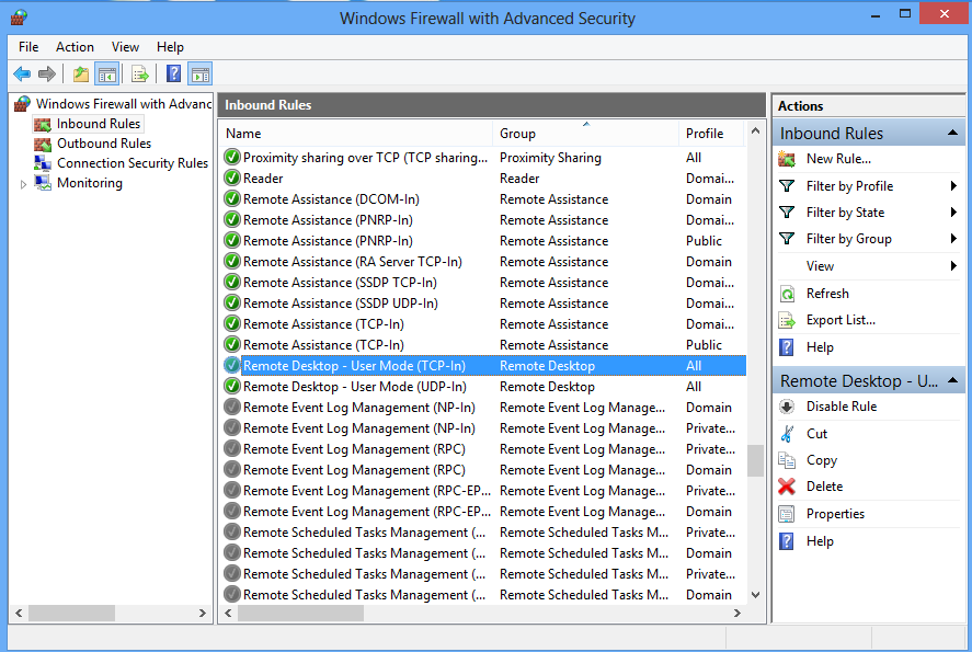 how to connect remote desktop using static ip