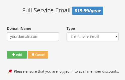 Full Service Email Sign up