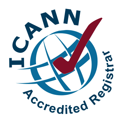 We are an ICANN accredited registrar.